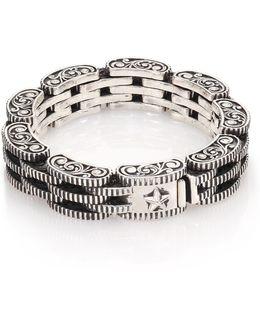 Sterling Silver Rotor Link Bracelet