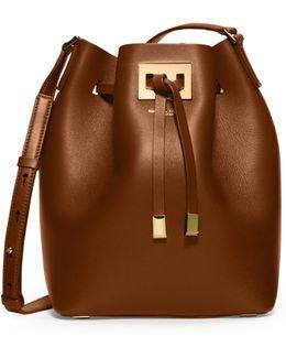 Miranda Medium Leather Bucket Bag