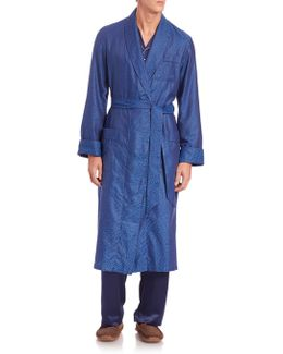 Paris Printed Cotton Robe