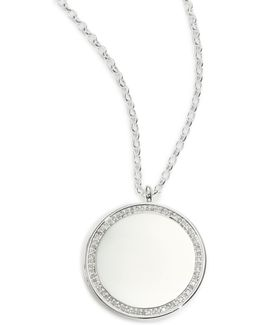 Cosmos Diamond & Sterling Silver Large Locket Necklace
