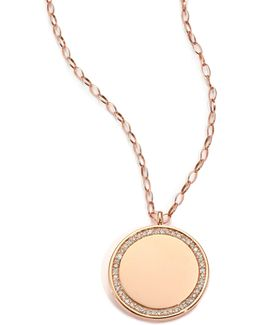 Cosmos Diamond & 14k Rose Gold Medium Locket Necklace