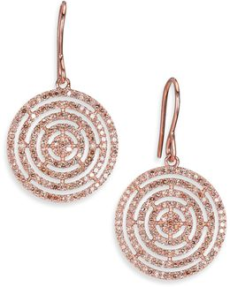 Icon Aura Grey Diamond & 14k Rose Gold Drop Earrings