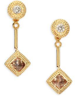 Talisman Essence Diamond & 18k Yellow Gold Drop Earrings