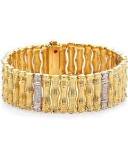 Bonsai Diamond, 18k Yellow Gold & 18k White Gold Bracelet