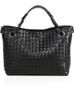 Montebello Small Intrecciato Leather Tote