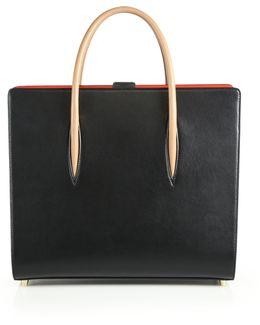 Paloma Two-tone Leather Tote