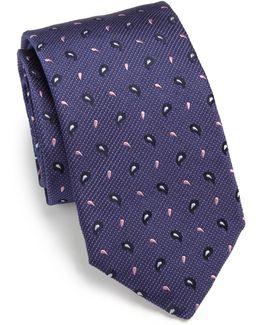 Textured Paisley Silk Tie