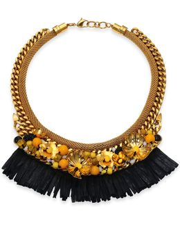 Tortola Beaded Hula Fringe Necklace