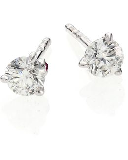 Diamond & 18k White Gold Stud Earrings/0.5 Tcw