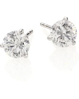 Diamond & 18k White Gold Stud Earrings/2.0 Tcw