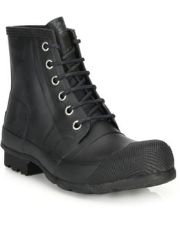 Quilted Lace-up All-weather Boots