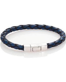 Click Scoubidou Leather & Sterling Silver Bracelet
