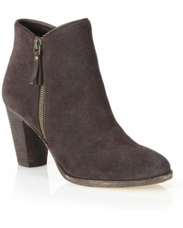 Hayes Suede Zip Ankle Boots
