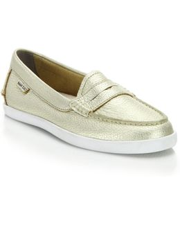 Pinch Weekender Metallic Leather Loafers
