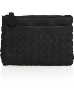Intrecciato Leather Key Case