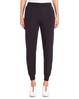 Virgin Wool & Silk Jogger Pants