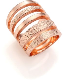 Single Cage Rose Goldtone Ring