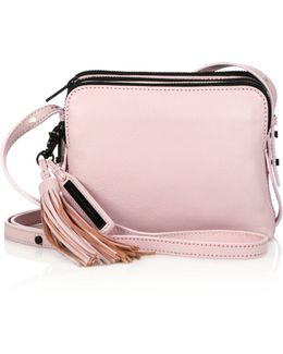 Small Triple-zip Leather Crossbody Bag