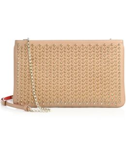 Loubiposh Studded Leather Clutch