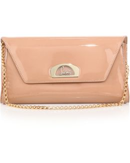Vero Dodat Patent Leather Clutch