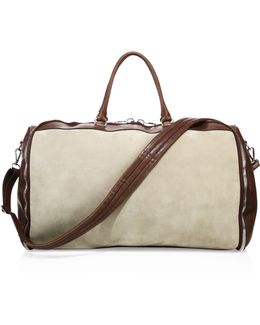 Leather Trimmed Duffel Bag