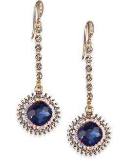 Royal Flush Starburst Faceted Drop Earrings