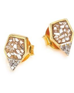 Charushila Champagne Diamond Zivar Stud Earrings