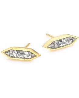 Charushila Sliced Raw Diamond Stud Earrings
