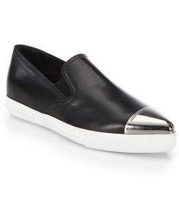Cap Toe Slip-on Sneakers
