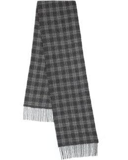 Plaid Wool & Cashmere Scarf