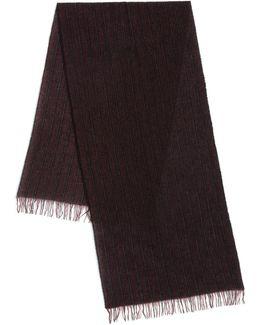 Ticking Stripe Cashmere Scarf