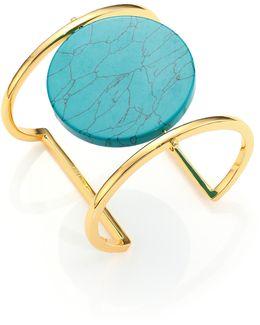Disco Turquoise Cuff Bracelet