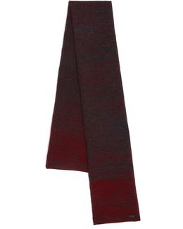 Ombre Knit Wool & Cashmere Scarf