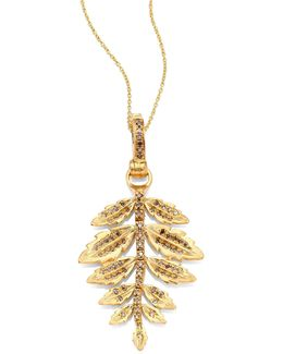 Fern Diamond & 18k Yellow Gold Amulet
