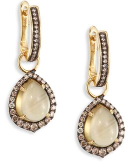 Diamond & Olive Quartz Drops