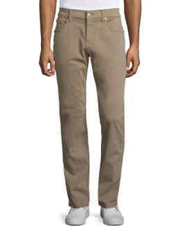 The Straight Solid Pants