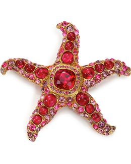 Maroon Starfish Pin