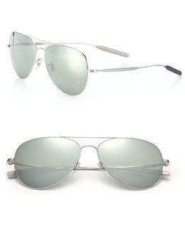 Davison 58mm Double-bridge Aviator Sunglasses