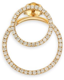 Pave Diamond & 14k Yellow Gold Single Ear Jacket