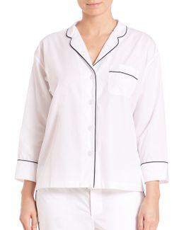 Marina End On End Pajama Shirt