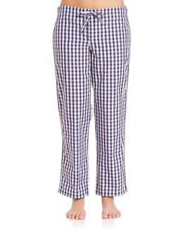 Marina Large Gingham Pajama Pants