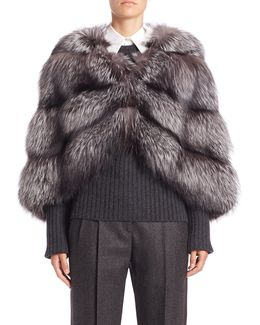 Horizontal Fox Fur Cape