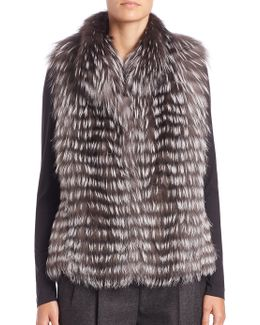Horizontal Fox Fur Vest