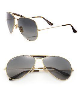 62mm Pilot Sunglasses