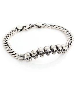 Infinity Skull Id Bracelet