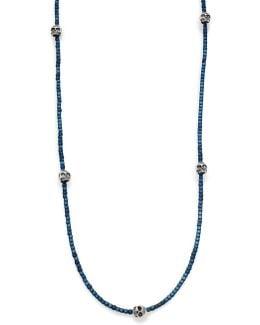 Hematite & Skull Necklace