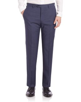 Melange Textured Trousers