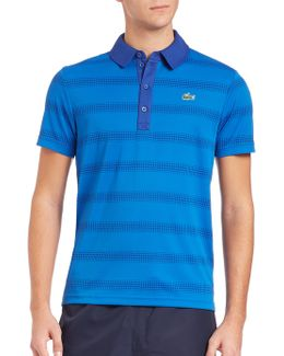 Ultr- Dry Dot Stripe Sport Polo