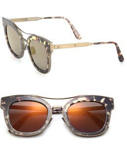 50mm Rounded Rectangle Metal Sunglasses