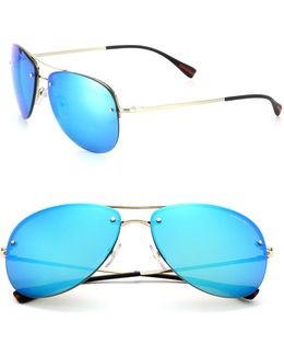 59mm Pilot Sunglasses
